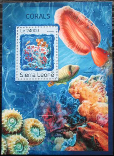 Poštovní známka Sierra Leone 2016 Korály Mi# Block 1119 Kat 11€