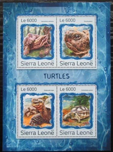 Poštovní známky Sierra Leone 2016 Želvy Mi# 7943-46 Kat 11€