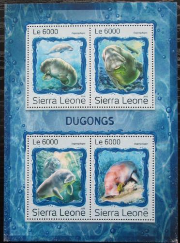 Poštovní známky Sierra Leone 2016 Dugong indický Mi# 7983-86 Kat 11€