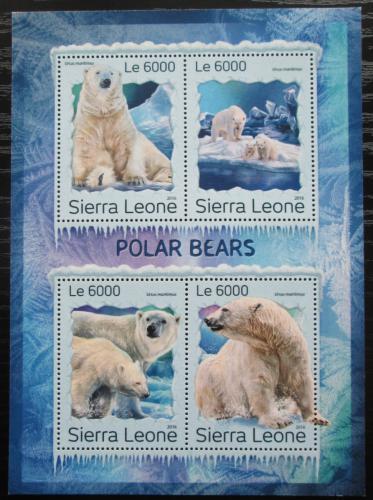 Poštovní známky Sierra Leone 2016 Lední medvìd Mi# 7978-81 Kat 11€