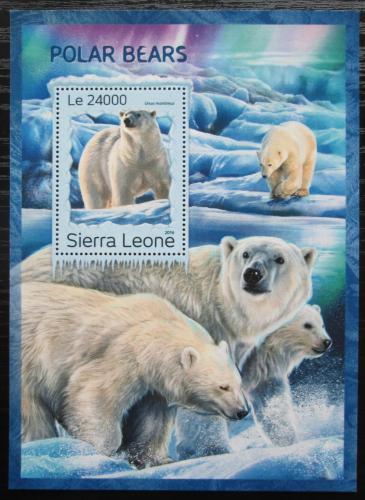 Poštovní známka Sierra Leone 2016 Lední medvìd Mi# Block 1128 Kat 11€