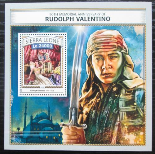 Poštovní známka Sierra Leone 2016 Rudolph Valentino, herec Mi# Block 1086 Kat 11€