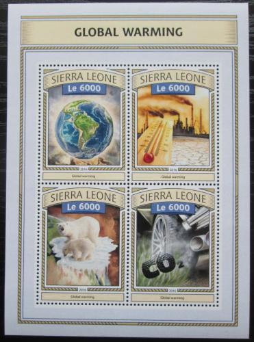 Poštovní známky Sierra Leone 2016 Globální oteplování Mi# 7788-91 Kat 11€