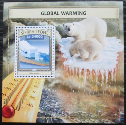 Poštovní známka Sierra Leone 2016 Globální oteplování Mi# Block 1090 Kat 11€