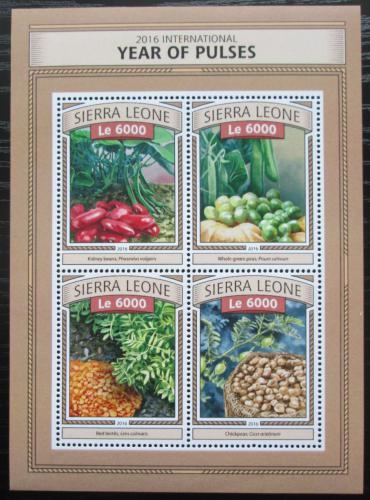 Poštovní známky Sierra Leone 2016 Luštìniny Mi# 7793-96 Kat 11€