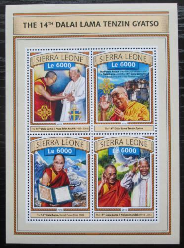 Poštovní známky Sierra Leone 2016 Dalajláma Mi# 7798-7801 Kat 11€