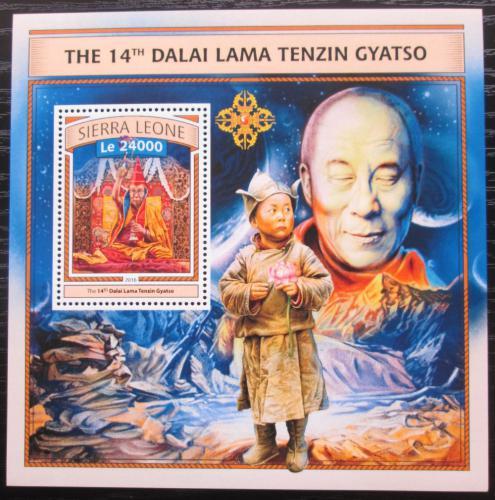Poštovní známka Sierra Leone 2016 Dalajláma Mi# Block 1092 Kat 11€