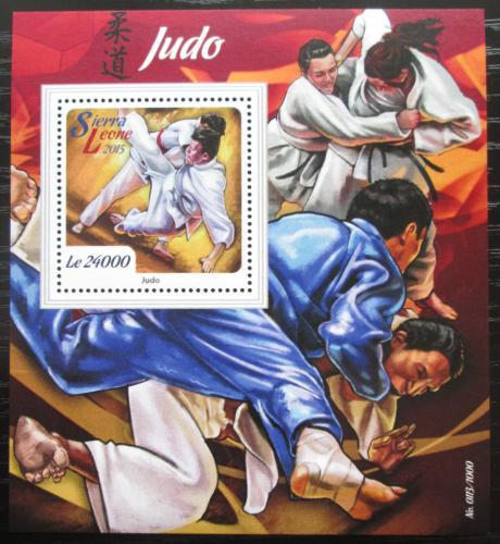 Poštovní známka Sierra Leone 2015 Judo Mi# Block 880 Kat 11€