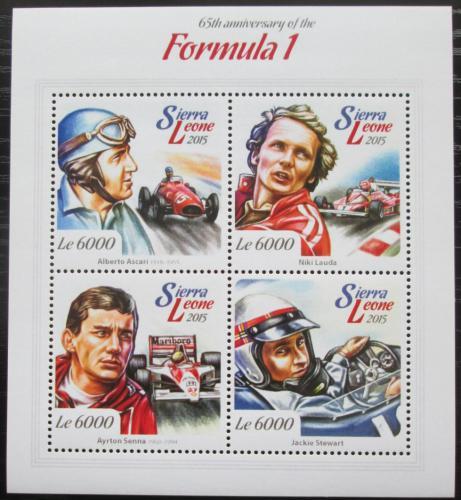 Poštovní známky Sierra Leone 2015 Formule 1 Mi# 6148-51 Kat 11€