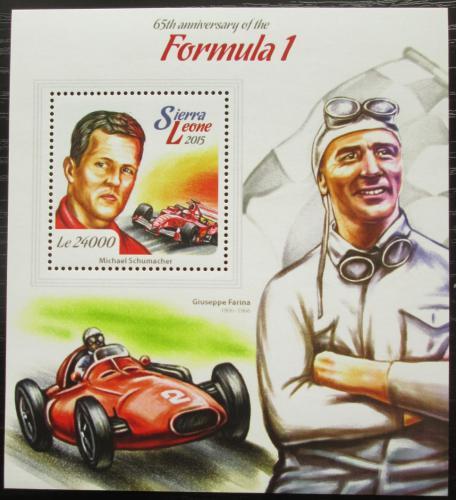 Poštovní známka Sierra Leone 2015 Formule 1 Mi# Block 764 Kat 11€