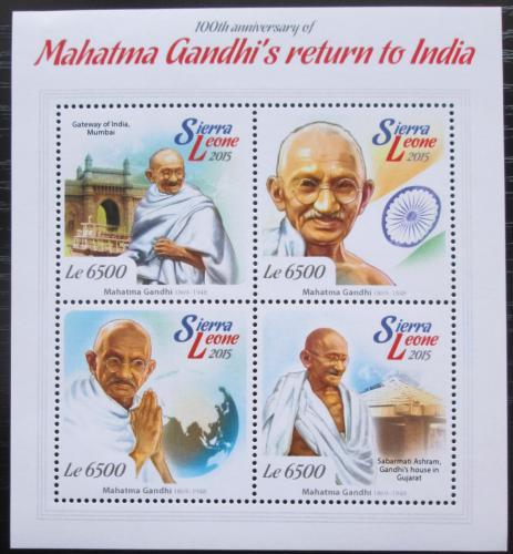 Poštovní známky Sierra Leone 2015 Mahátma Gándhí Mi# 6168-71 Kat 11€