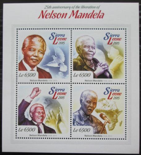 Poštovní známky Sierra Leone 2015 Nelson Mandela Mi# 6183-86 Kat 12€