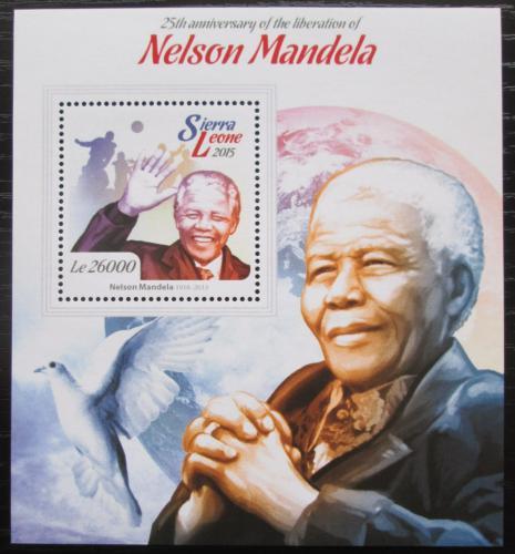 Poštovní známka Sierra Leone 2015 Nelson Mandela Mi# Block 771 Kat 12€