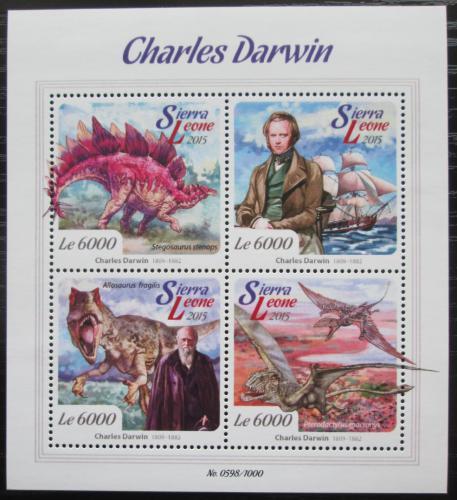 Poštovní známky Sierra Leone 2015 Charles Darwin Mi# 6773-76 Kat 11€