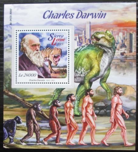 Poštovní známka Sierra Leone 2015 Charles Darwin Mi# Block 887 Kat 11€