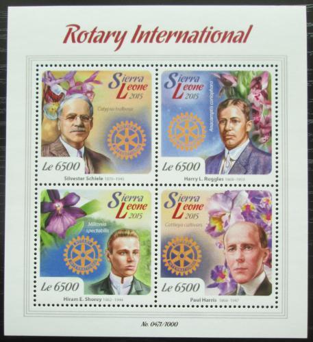Poštovní známky Sierra Leone 2015 Rotary International Mi# 6803-06 Kat 12€