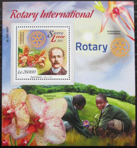 Poštovní známka Sierra Leone 2015 Rotary International Mi# Block 893 Kat 12€