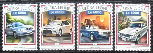 Poštovní známky Sierra Leone 2016 Toyota Corolla Mi# 7838-41 Kat 11€