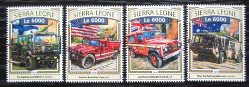 Poštovní známky Sierra Leone 2016 Hasièská auta Mi# 7873-76 Kat 11€