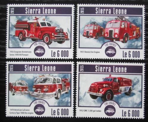 Poštovní známky Sierra Leone 2015 Hasièská auta Mi# 6244-47 Kat 11€