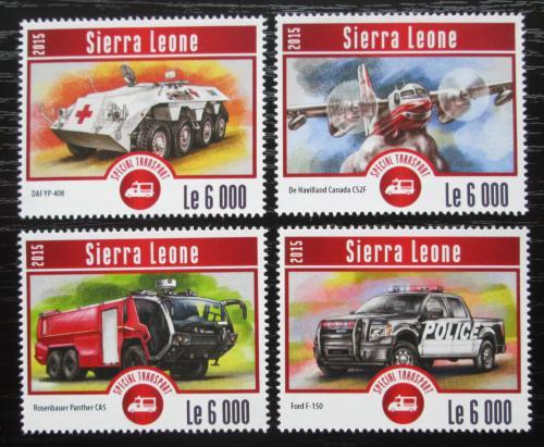 Poštovní známky Sierra Leone 2015 Záchranáøi Mi# Mi# 6254-57 Kat 11€