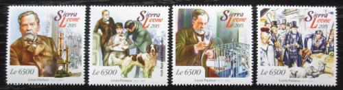 Poštovní známky Sierra Leone 2015 Louis Pasteur, vakcinace Mi# 6163-66 Kat 12€