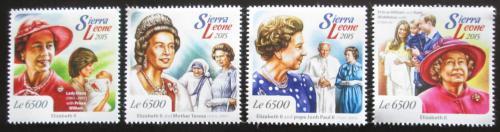 Poštovní známky Sierra Leone 2015 Královna Alžbìta II. Mi# 6193-96 Kat 12€