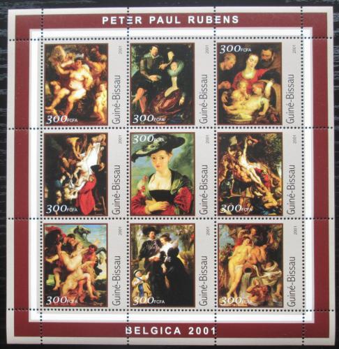 Poštovní známky Guinea-Bissau 2001 Umìní, P. P. Rubens Mi# 1660-68 Kat 11€
