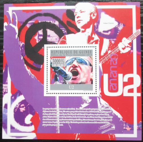 Poštovní známka Guinea 2010 U2, hudební skupina Mi# Block 1813 Kat 10€
