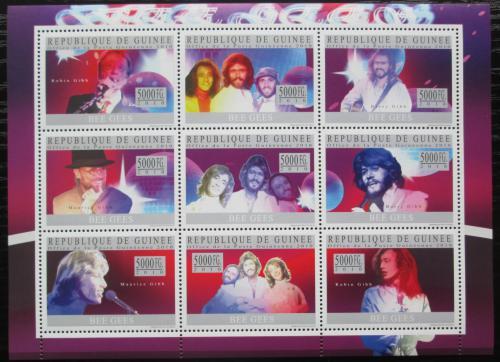 Poštovní známky Guinea 2010 The Bee Gees, hudební skupina Mi# 7449-57 Kat 18€