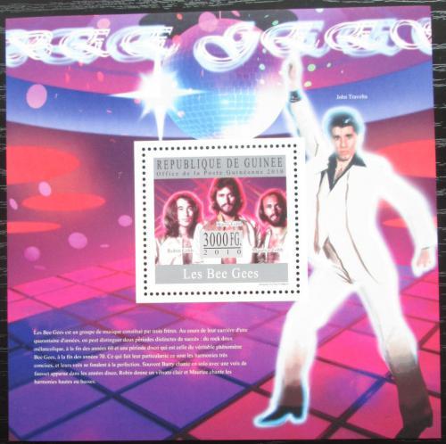 Poštovní známka Guinea 2010 The Bee Gees, hudební skupina Mi# Block 1816 Kat 10€