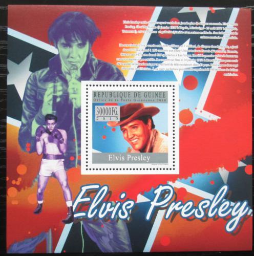 Poštovní známka Guinea 2010 Elvis Presley Mi# Block 1807 Kat 10€