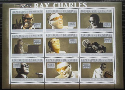 Poštovní známky Guinea 2010 Ray Charles, jazz Mi# 7369-77 Kat 18€