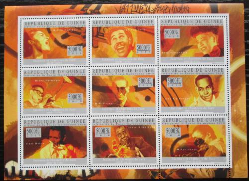 Poštovní známky Guinea 2010 Ameriètí jazzmani Mi# 7339-47 Kat 18€