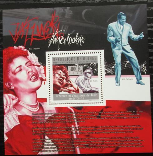 Poštovní známka Guinea 2010 Ameriètí jazzmani Mi# Block 1805 Kat 10€