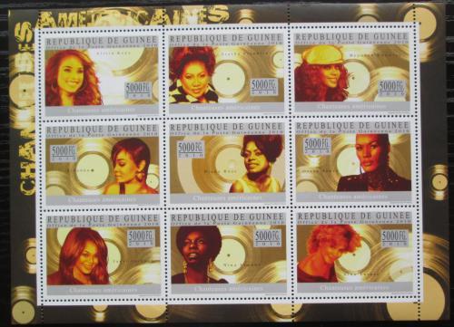 Poštovní známky Guinea 2010 Americké zpìvaèky Mi# 7329-37 Kat 18€