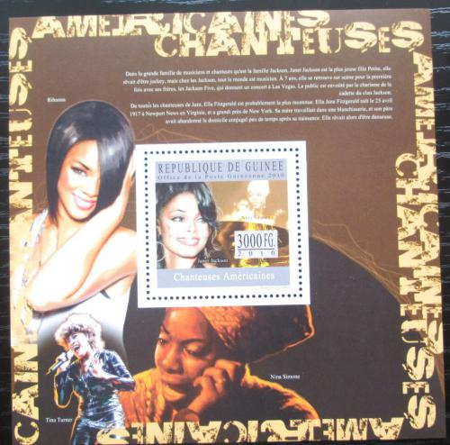 Poštovní známka Guinea 2010 Americké zpìvaèky Mi# Block 1804 Kat 10€
