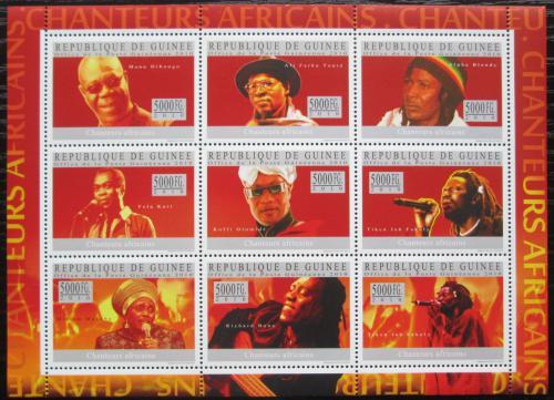 Poštovní známky Guinea 2010 Afriètí zpìváci Mi# 7279-87 Kat 18€