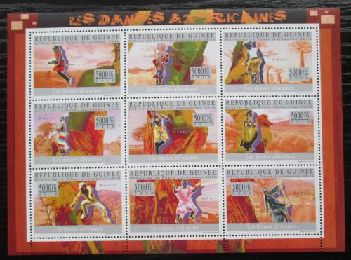 Poštovní známky Guinea 2010 Africký tanec Mi# 7299-7307 Kat 18€