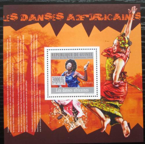 Poštovní známka Guinea 2010 Africký tanec Mi# Block 1801 Kat 10€