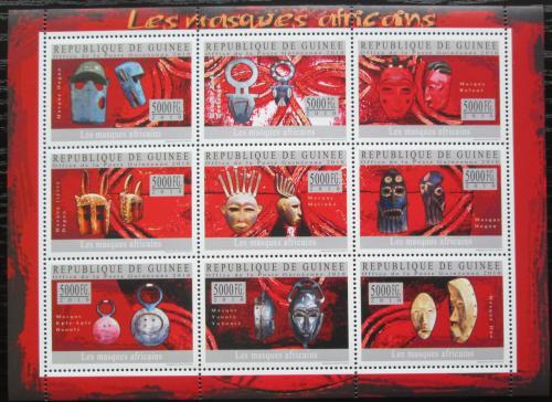 Poštovní známky Guinea 2010 Africké masky Mi# 7319-27 Kat 18€