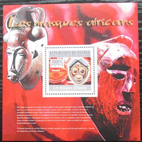 Poštovní známka Guinea 2010 Africké masky Mi# Block 1803 Kat 10€