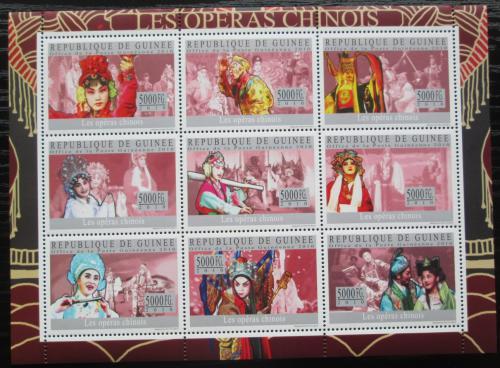 Poštovní známky Guinea 2010 Èínská opera Mi# 7249-57 Kat 18€