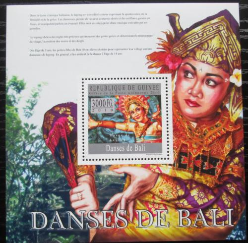 Poštovní známka Guinea 2010 Balijský tanec Mi# Block 1798 Kat 10€