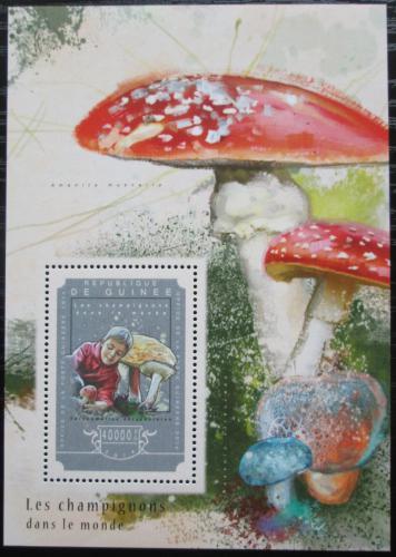 Poštovní známka Guinea 2014 Houby Mi# Block 2453 Kat 16€
