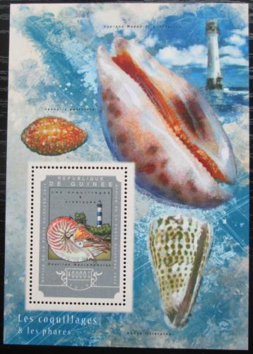 Poštovní známka Guinea 2014 Mušle a majáky Mi# Block 2454 Kat 16€