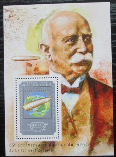 Poštovní známka Guinea 2014 Zeppelin LZ 127 Mi# Block 2459 Kat 16€