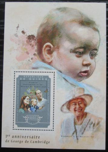 Poštovní známka Guinea 2014 Princ George Mi# Block 2463 Kat 16€