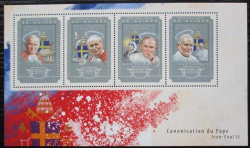 Poštovní známky Guinea 2014 Papež Jan Pavel II. Mi# 10842-45 Kat 20€