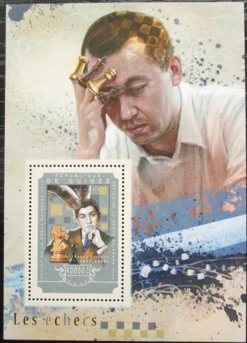Poštovní známka Guinea 2014 Bobby Fischer, šachy Mi# Block 2468 Kat 16€